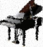 grand piano cubism